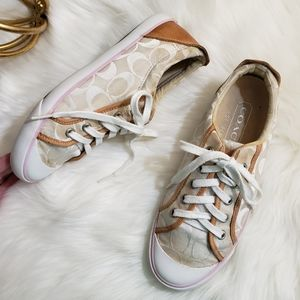 Coach | 8 Barrett Sneakers monogram pink leather